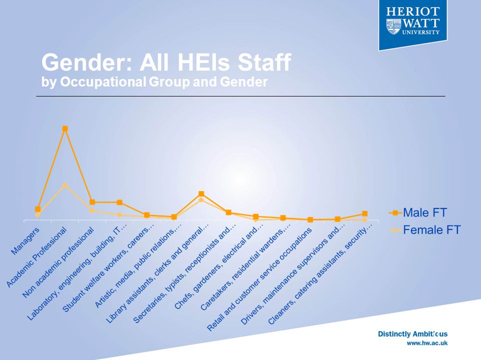Gender: All HEIs Staff by Occupational Group and Gender 11