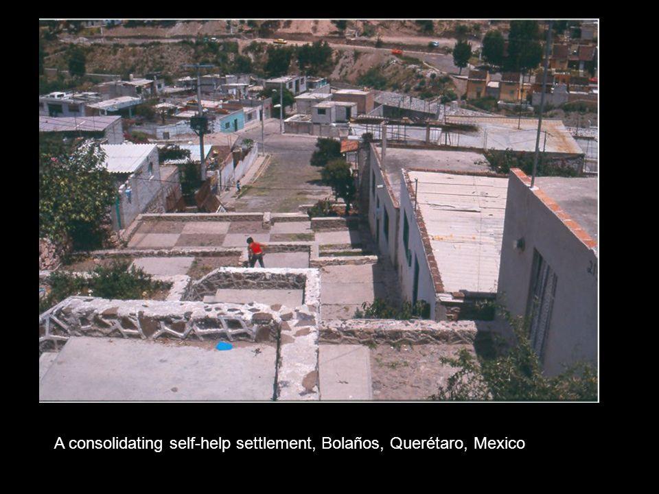 A consolidating self-help settlement, Bolaños, Querétaro, Mexico