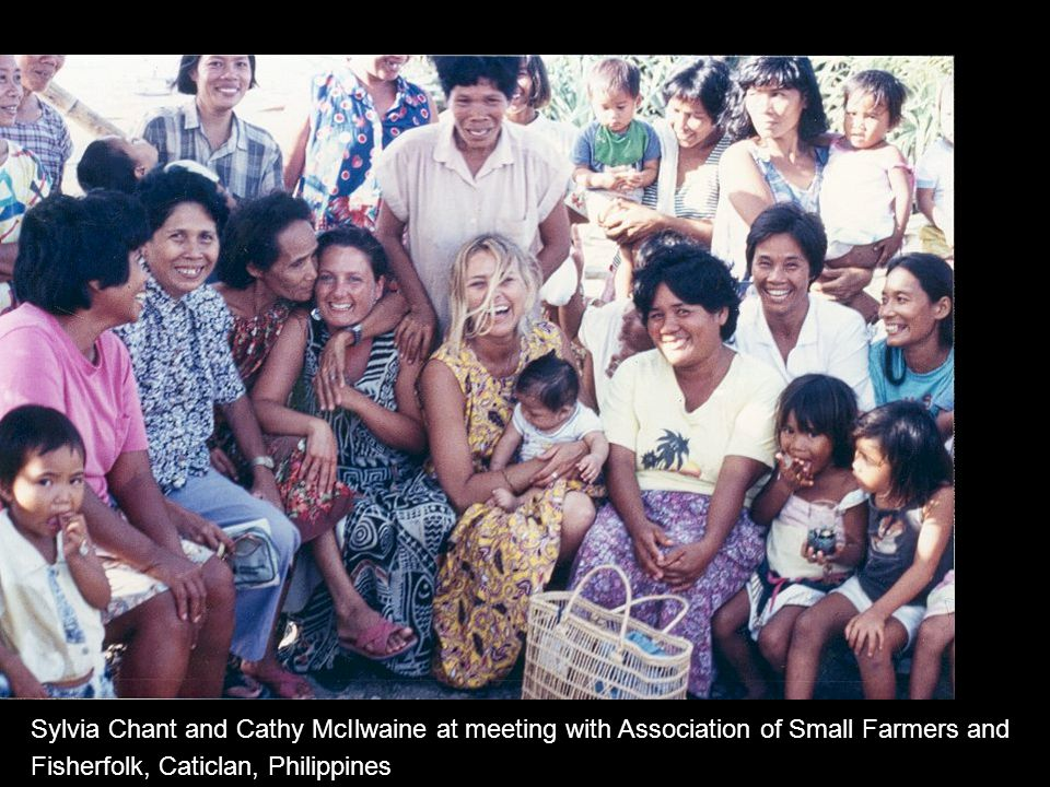 Sylvia Chant and Cathy McIlwaine at meeting with Association of Small Farmers and Fisherfolk, Caticlan, Philippines