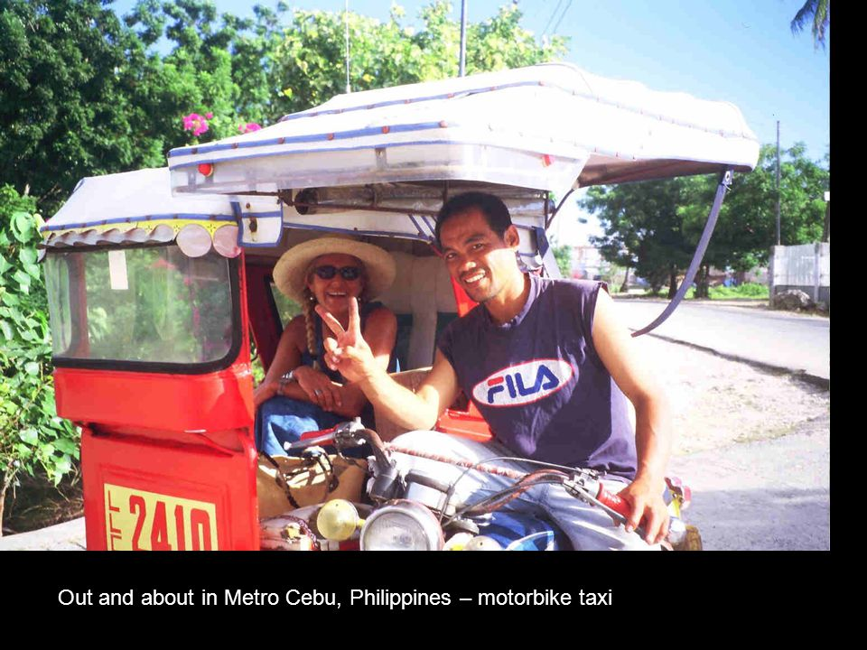 Out and about in Metro Cebu, Philippines – motorbike taxi