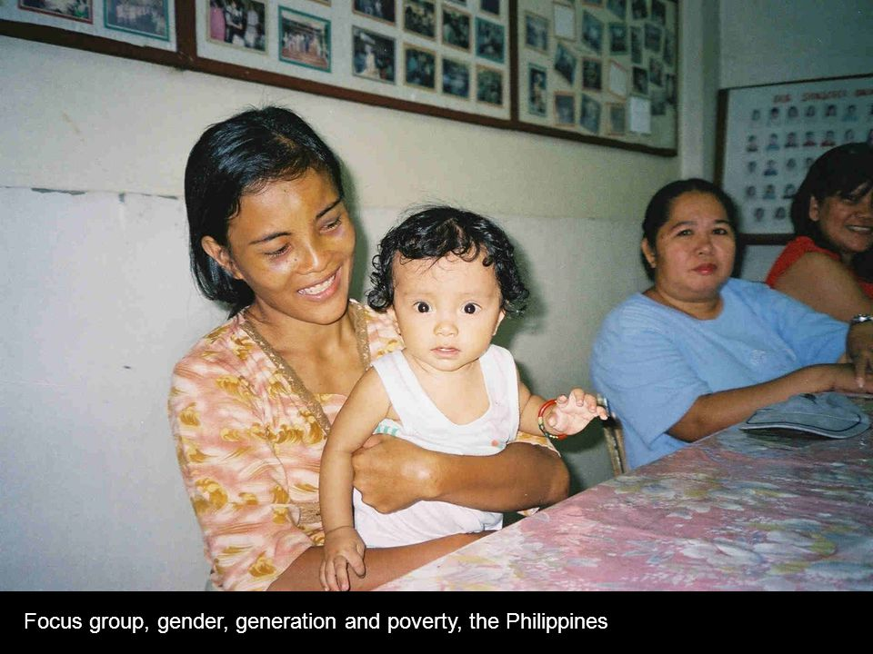 Focus group, gender, generation and poverty, the Philippines