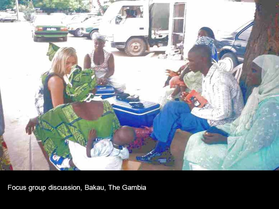 Focus group discussion, Bakau, The Gambia