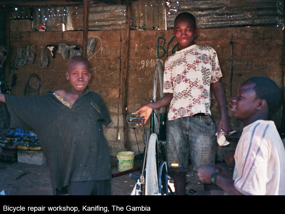 Bicycle repair workshop, Kanifing, The Gambia