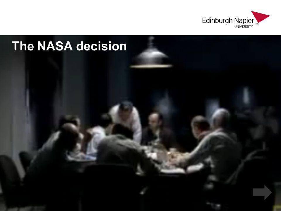The NASA decision