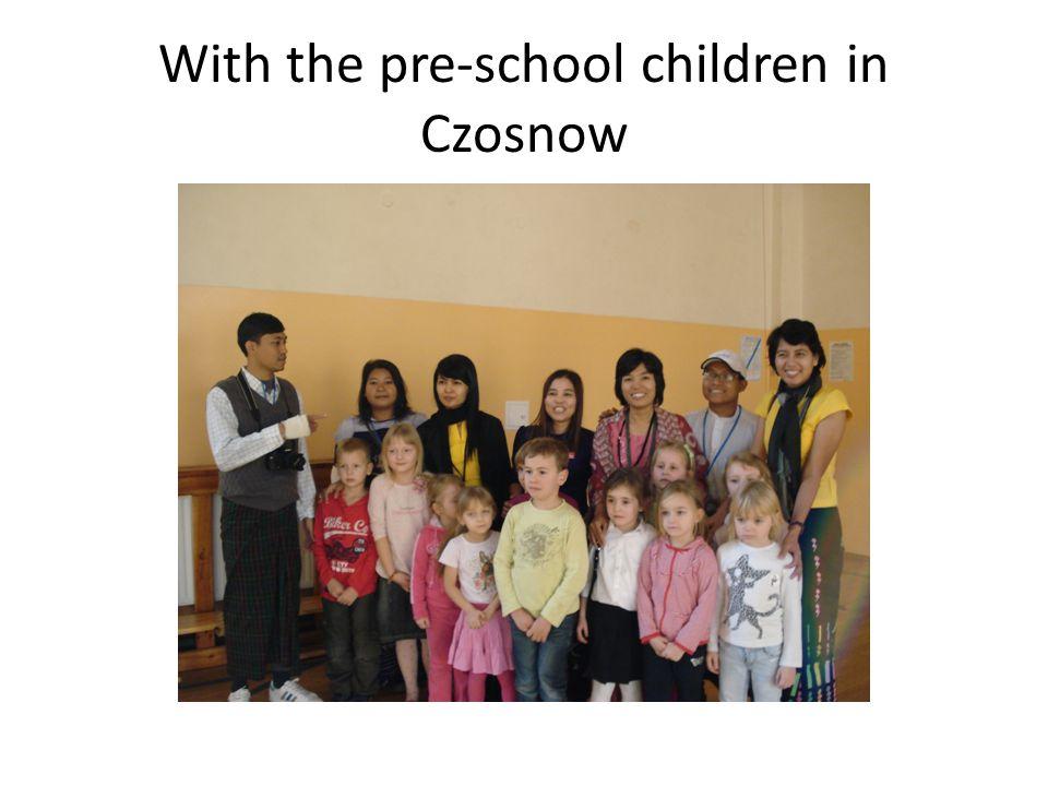 With the pre-school children in Czosnow