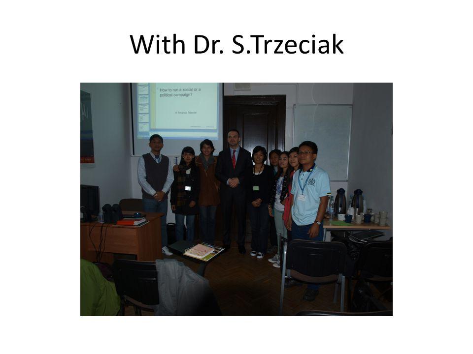 With Dr. S.Trzeciak
