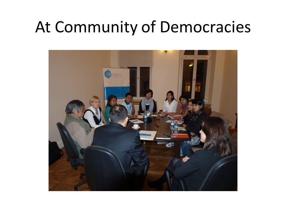 At Community of Democracies