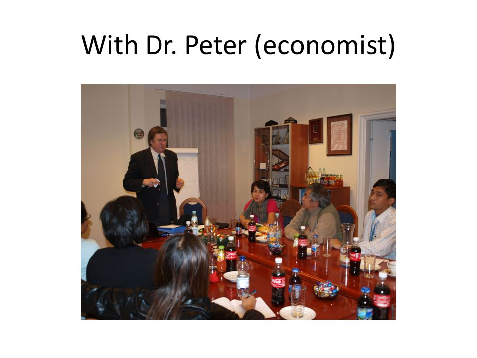 With Dr. Peter (economist)