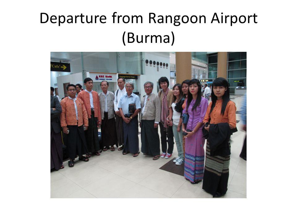 Departure from Rangoon Airport (Burma)