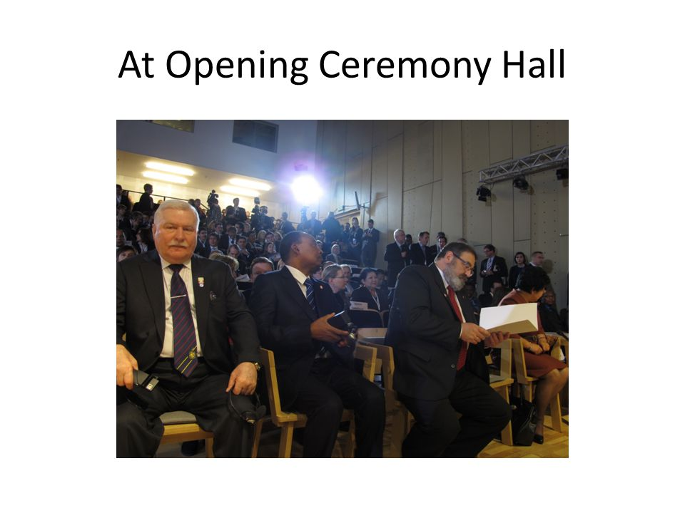 At Opening Ceremony Hall