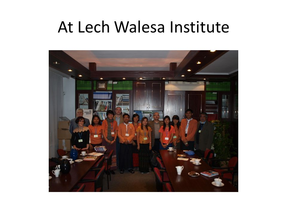 At Lech Walesa Institute