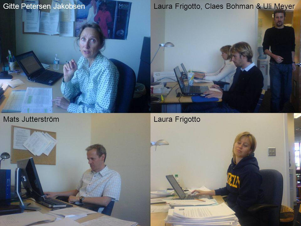 Laura FrigottoMats Jutterström Gitte Petersen JakobsenLaura Frigotto, Claes Bohman & Uli Meyer