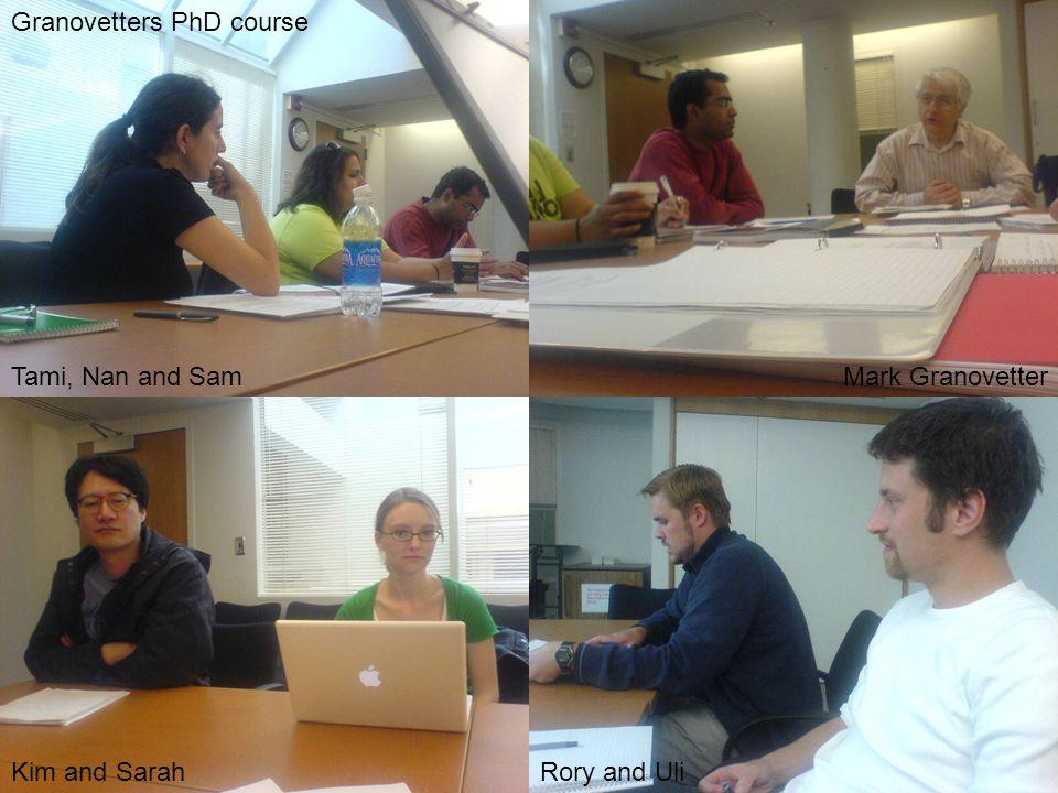 Granovetters PhD course Tami, Nan and Sam Kim and SarahRory and Uli Mark Granovetter