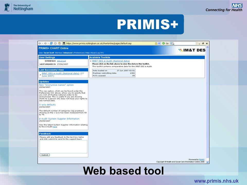 www.primis.nhs.uk Web based tool
