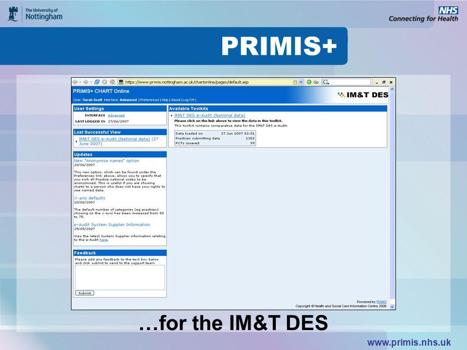 www.primis.nhs.uk …for the IM&T DES