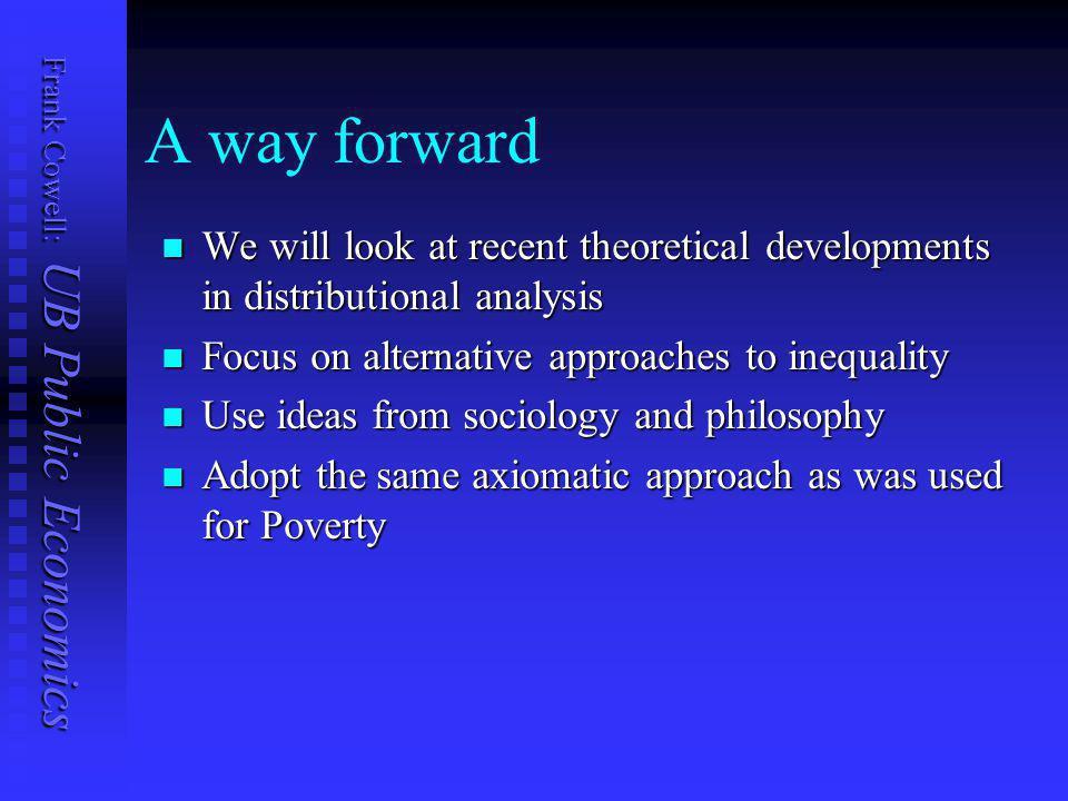 Frank Cowell: UB Public Economics Overview... Experimental approaches Deprivation Complaints Claims Deprivation, complaints, inequality An economic in