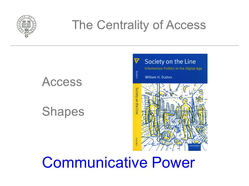 Access Shapes Communicative Power The Centrality of Access