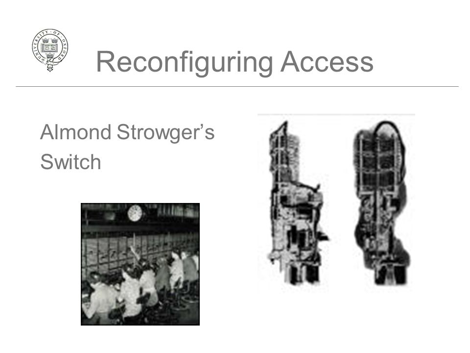 Reconfiguring Access Almond Strowger's Switch