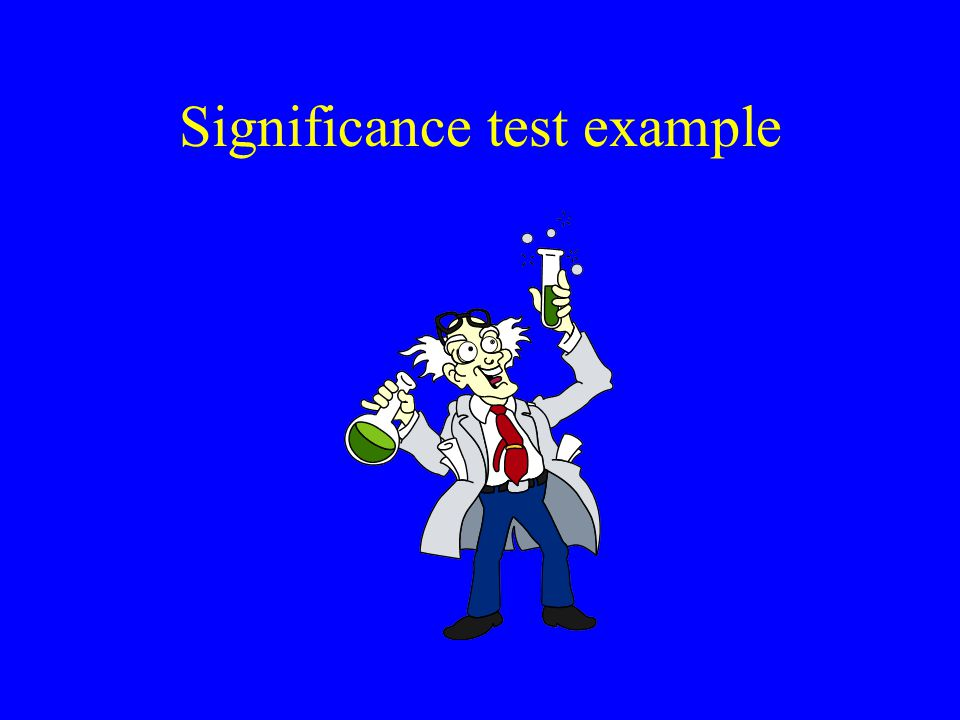 Significance test example