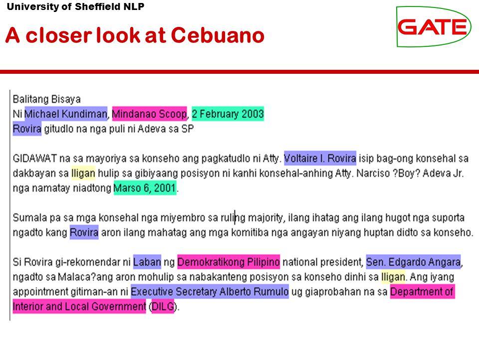A closer look at Cebuano