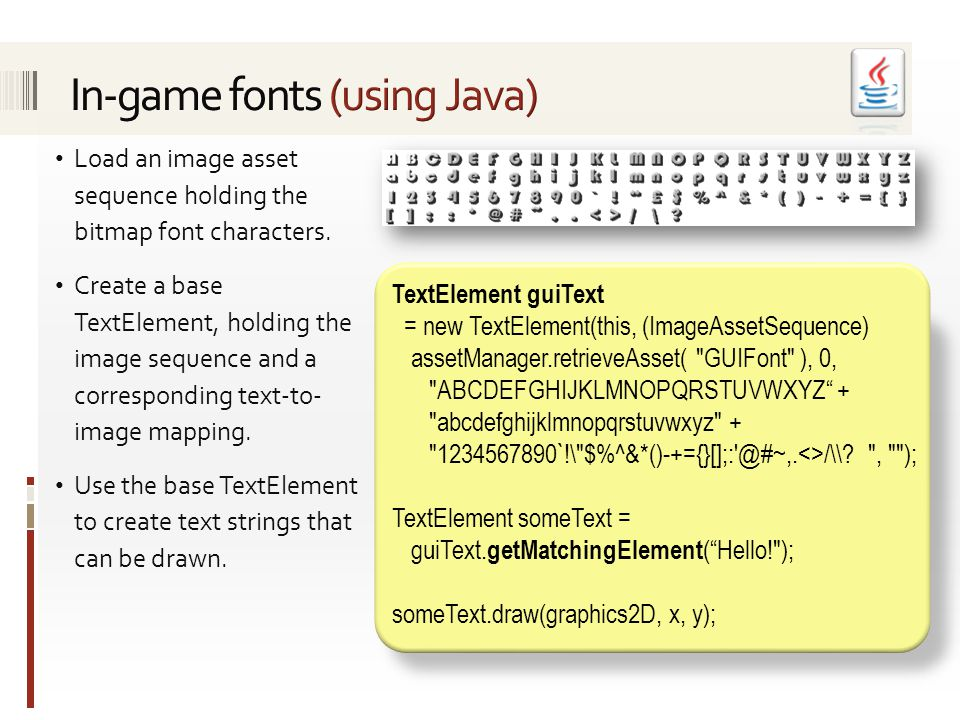 Load an image asset sequence holding the bitmap font characters.
