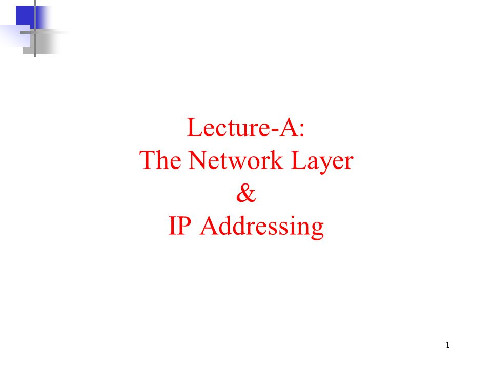 12 Network layer at the Source The source network layer receives data from transport layer, adds the universal addresses of host A and host D.