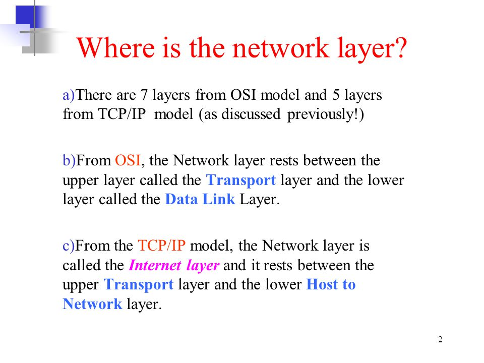 3 Function of Network Layer
