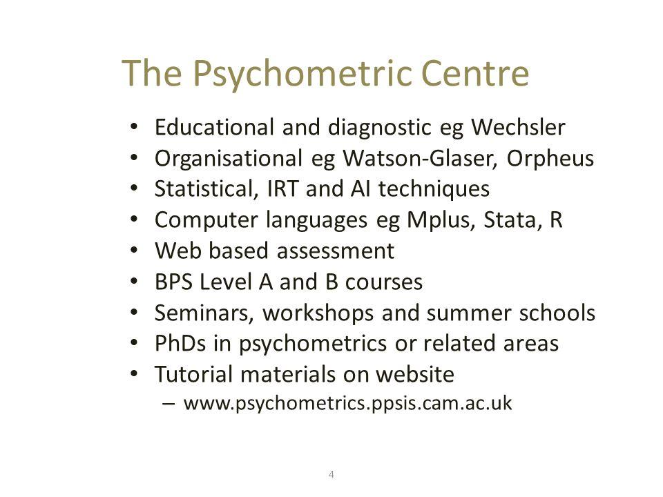 What is psychometrics.