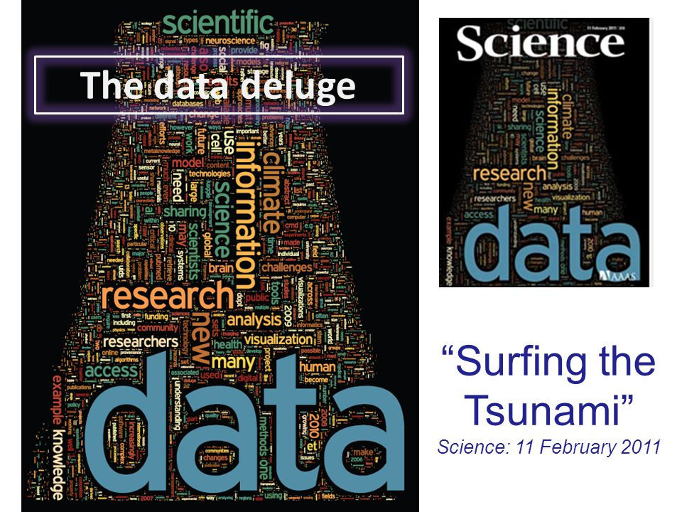 """Surfing the Tsunami"" Science: 11 February 2011 The data deluge"