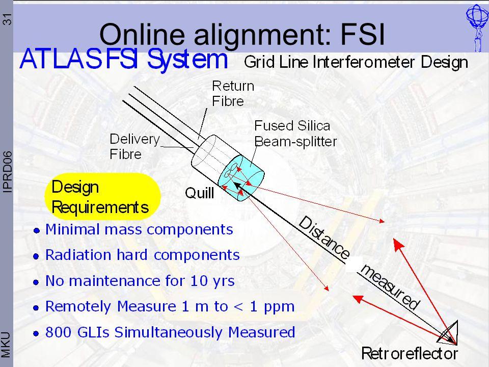 31 MKU IPRD06 Online alignment: FSI