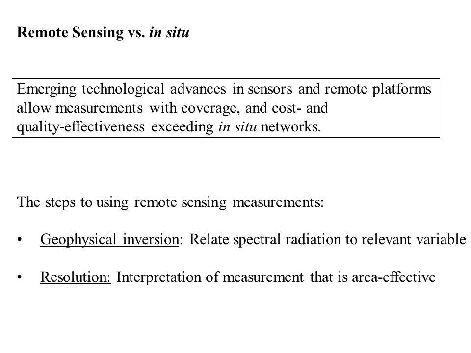 Remote Sensing vs.