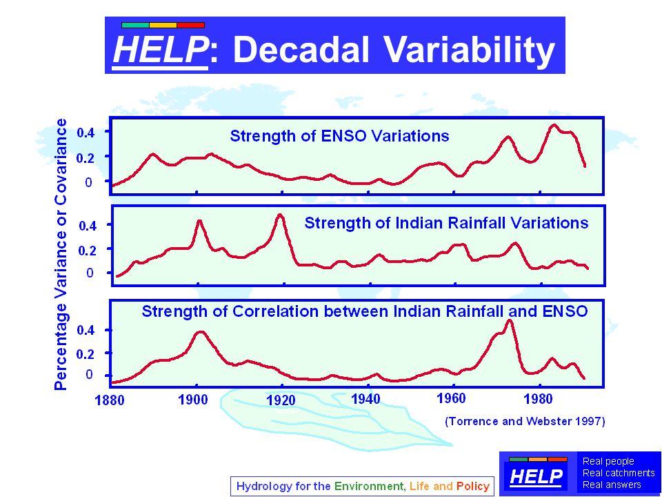 HELP: Decadal Variability