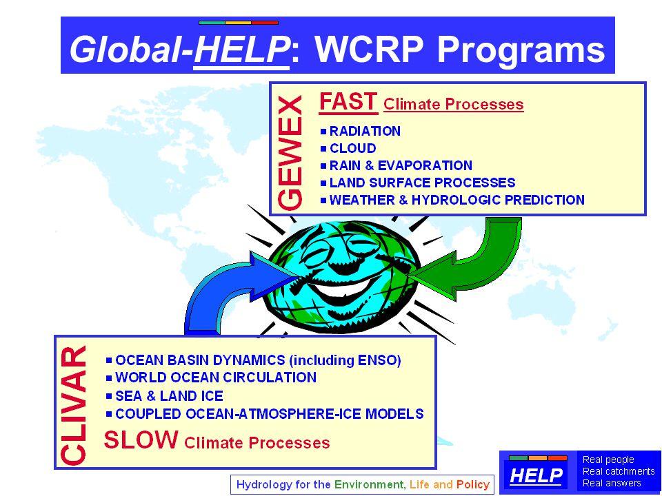 Global-HELP: WCRP Programs