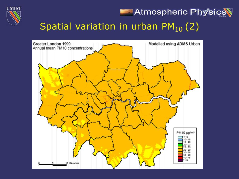 Spatial variation in urban PM 10 (2)
