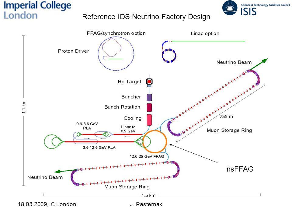 18.03.2009, IC LondonJ. Pasternak Reference IDS Neutrino Factory Design nsFFAG