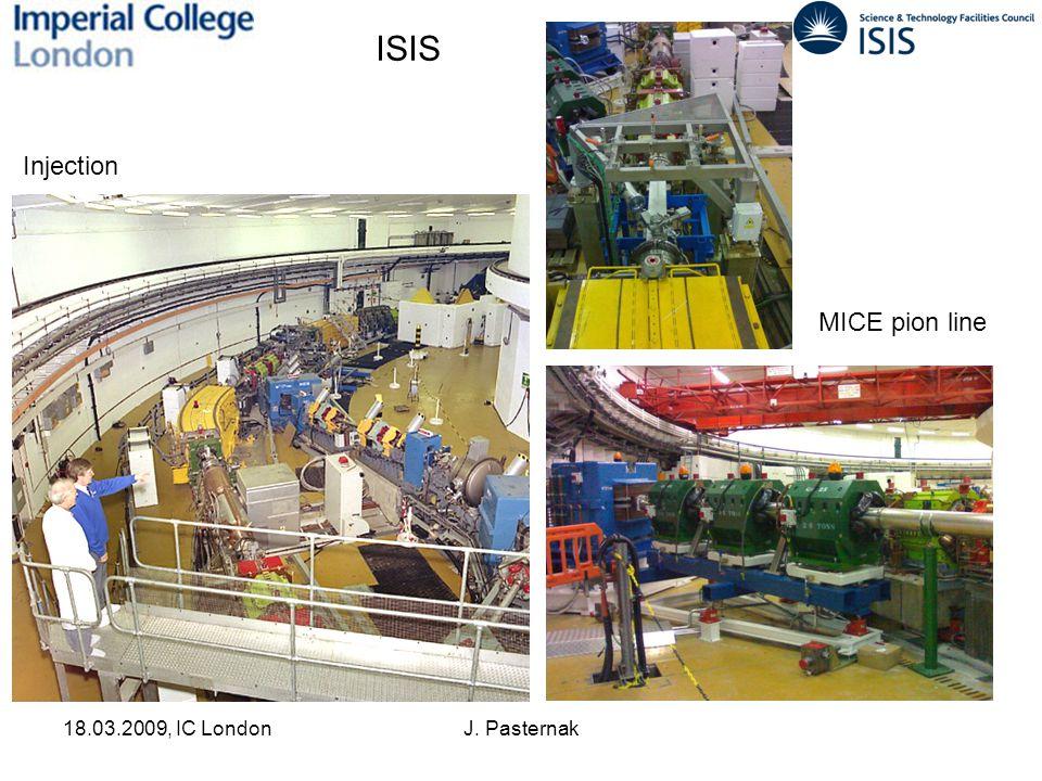 18.03.2009, IC LondonJ. Pasternak ISIS Injection MICE pion line