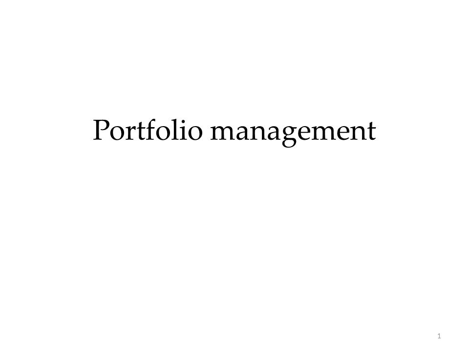 22 Portfolio performance measurement