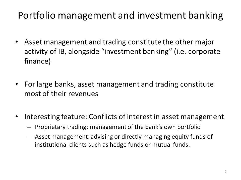 13 Portfolio adjustment The portfolio needs to be adjusted frequently to maximize return and manage risk.