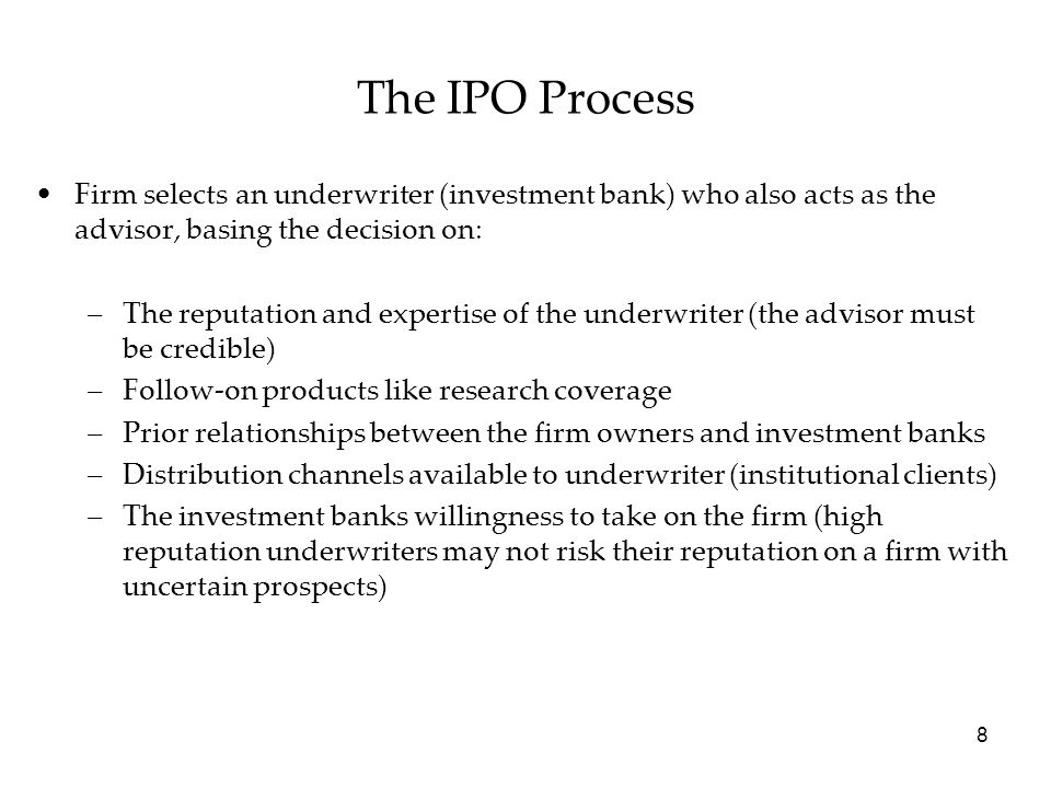 59 Privatizations constitute a particular class of IPOs, where the vendor is not an entrepreneur but the government.