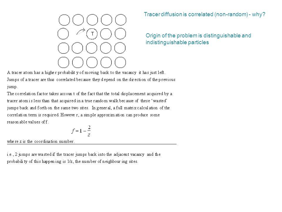 Origin of the problem is distinguishable and indistinguishable particles