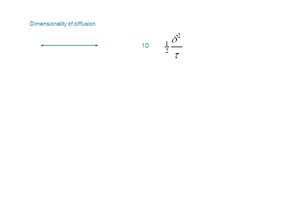 Dimensionality of diffusion 1D