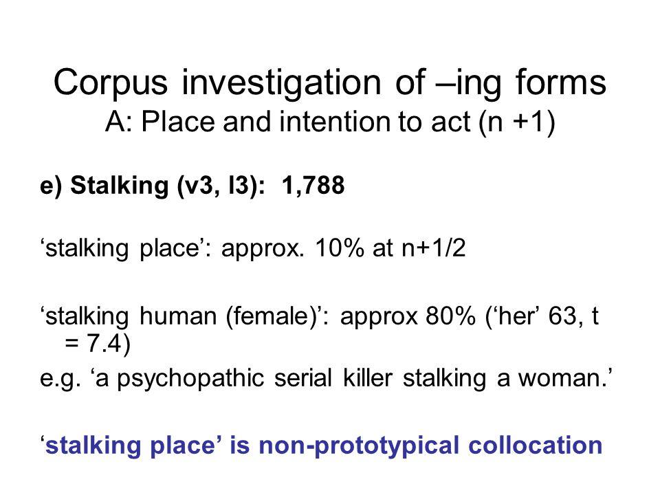 e) Stalking (v3, l3): 1,788 'stalking place': approx.