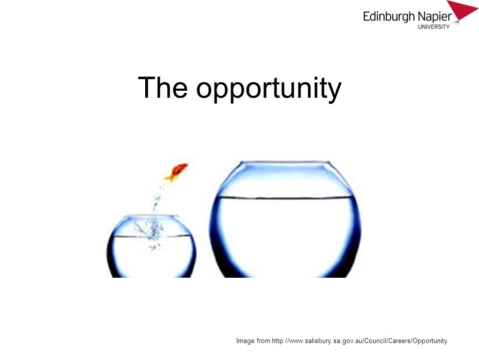 The opportunity Image from http://www.salisbury.sa.gov.au/Council/Careers/Opportunity