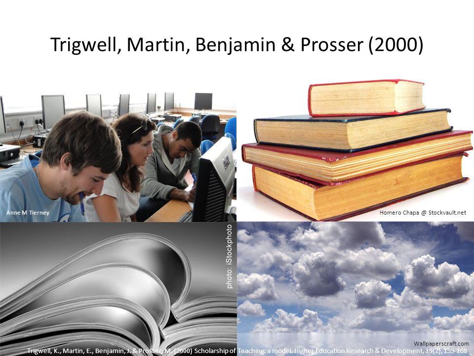 Trigwell, Martin, Benjamin & Prosser (2000) Homero Chapa @ Stockvault.net Wallpaperscraft.com Trigwell, K., Martin, E., Benjamin, J.