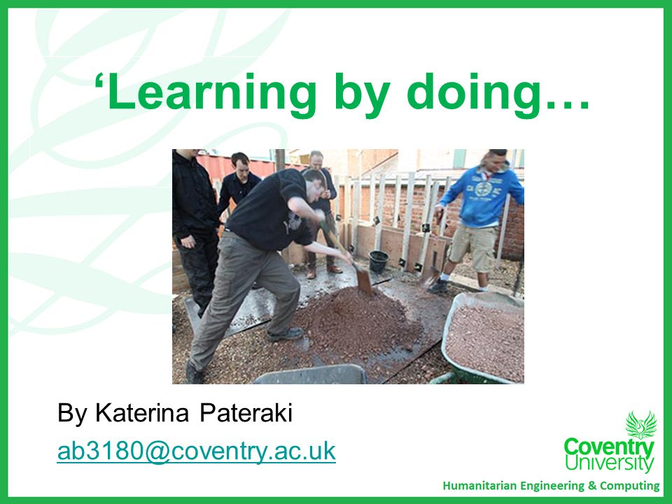 'Learning by doing… By Katerina Pateraki