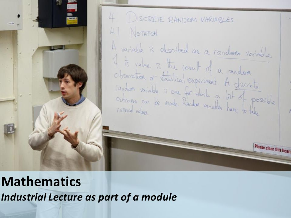 Mathematics Industrial Lecture as part of a module
