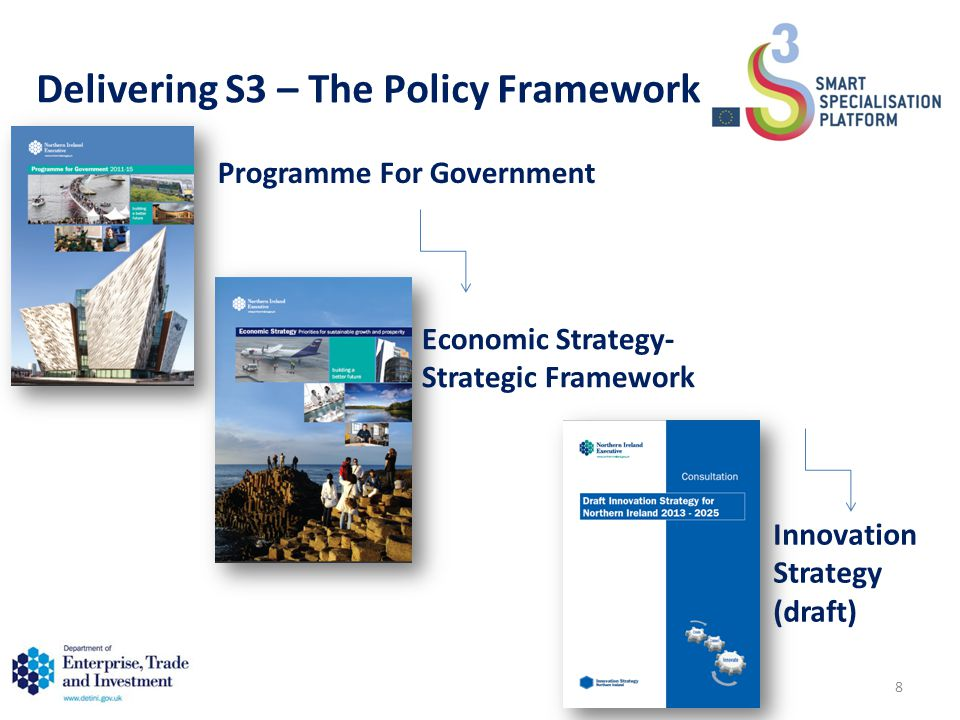 Delivering S3 – The Policy Framework Programme For Government Economic Strategy- Strategic Framework Innovation Strategy (draft) 8