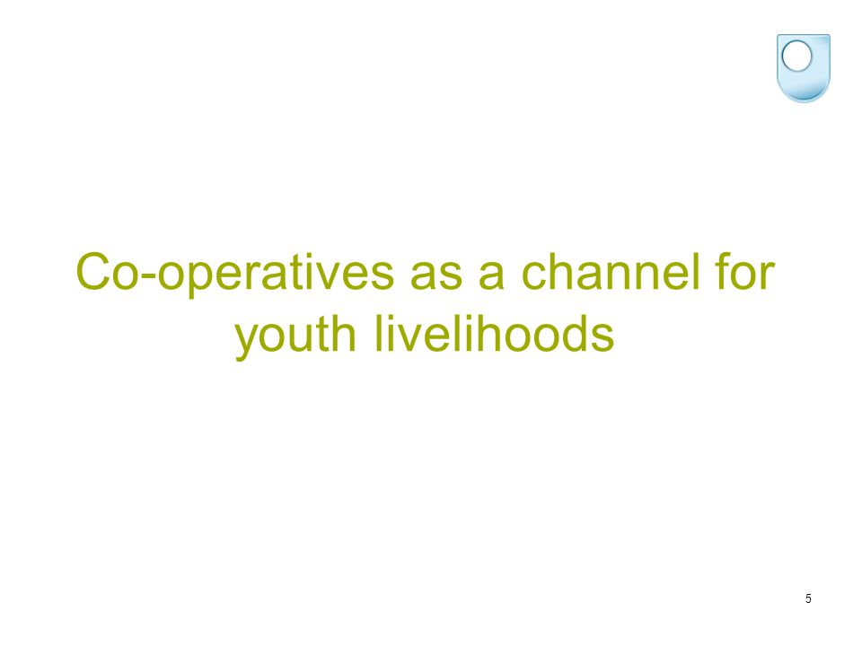Co-operatives as a channel for youth livelihoods 5