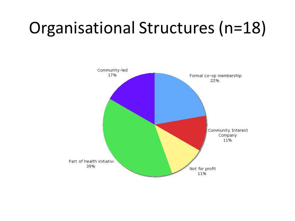 Organisational Structures (n=18)