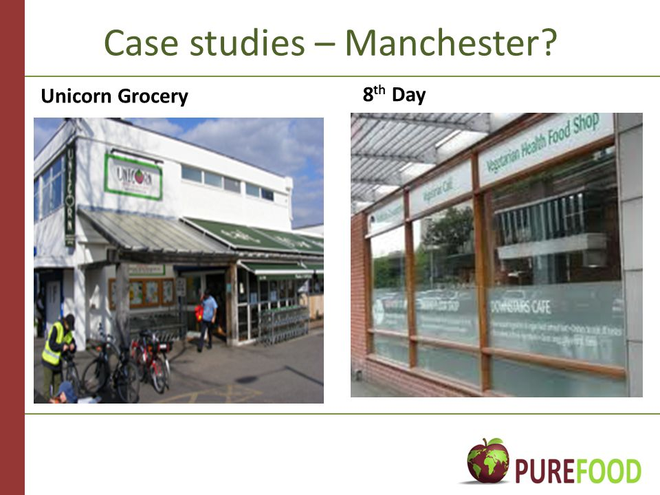 Case studies – Manchester Unicorn Grocery 8 th Day